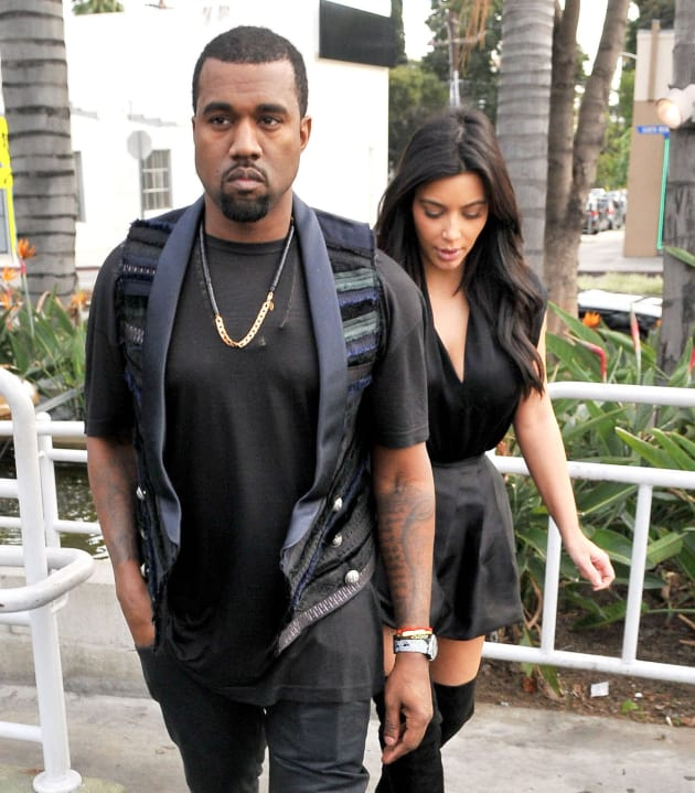 Kanye with Kim
