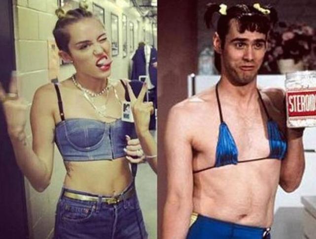 Miley Cyrus vs. Jim Carrey