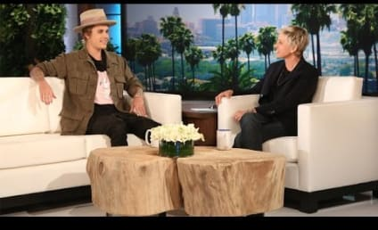 "Justin Bieber Flirts With Madonna, Apologizes for Being a ""Douche Bag"" on Ellen"