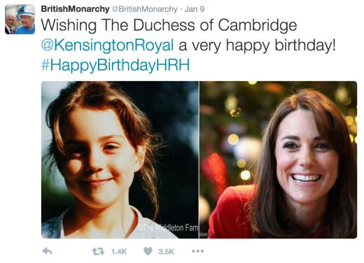 The British Monarchy Wishes Kate Middleton a Happy 34th Birthday
