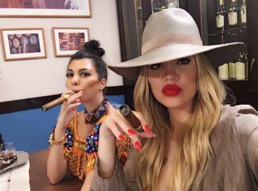 Khloe and Kourtney Kardashian in Cuba