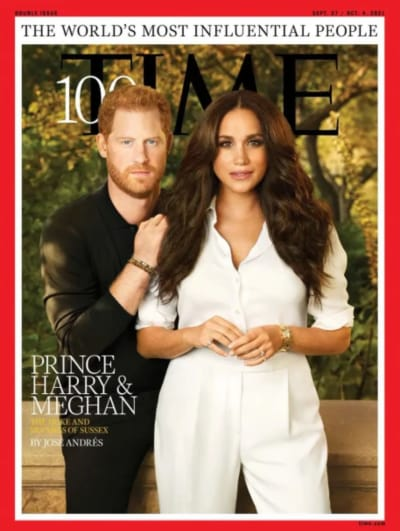 Harry and Meghan Time Cover