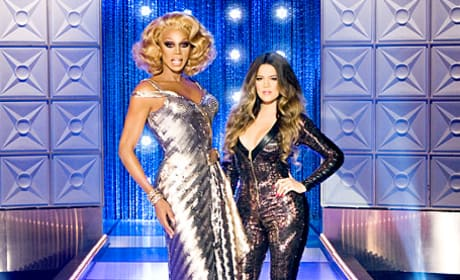 Khloe Kardashian and RuPaul