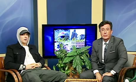 Stephen Colbert Interviews Eminem on Michigan Public Access Show