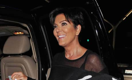 Kris Jenner Gets Into a Car