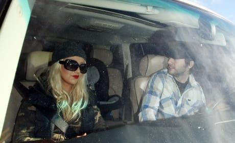 Christina in the Car