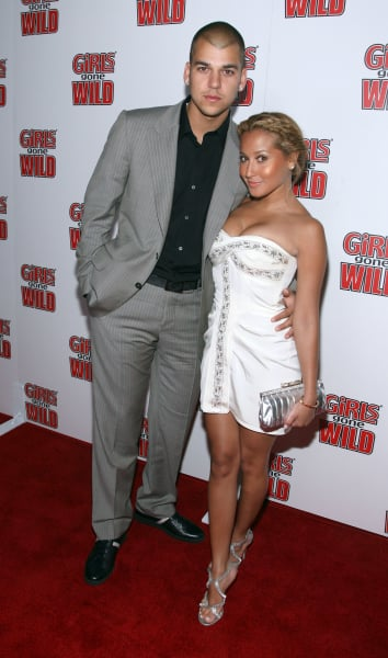 Rob Kardashian Adrienne Bailon 2008 Girls Gone Wild Party