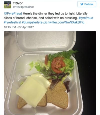 Fyre Fest Food