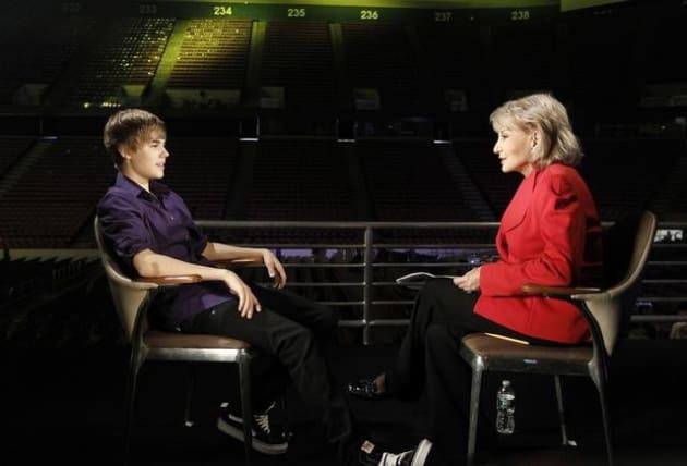 Barbara Walters and Justin Bieber