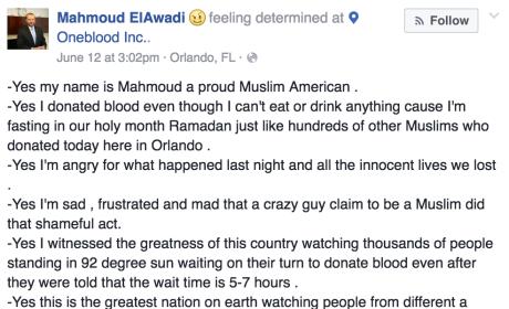 Muslim Donates Blood After Orlando Shootings