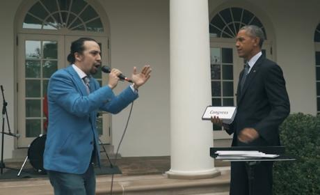 Lin-Manuel Miranda Freestyles with President Obama, Wins Everything Forever