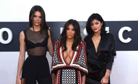 Kendall Jenner, Kim Kardashian and Kylie Jenner: 2014 MTV Video Music Awards