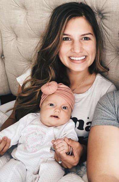 Carlin Bates and Baby