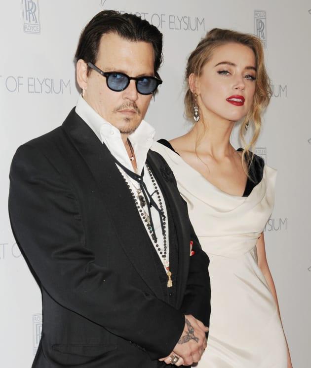 Johnny Depp, Amber Heard Red Carpet Pic