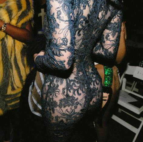 Kylie Jenner's butt in lace