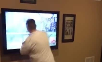 Alabama Fan Watches Team Lose, Punches Hole in TV