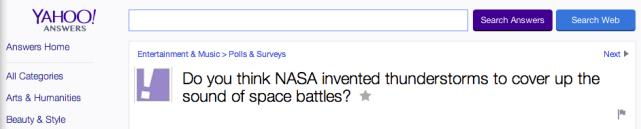 Because NASA