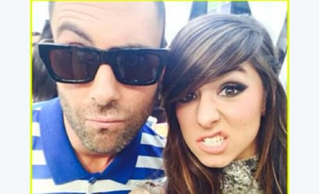 Adam Levine and Christina Grimmie