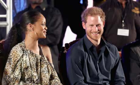 Rihanna Hangs with Harry