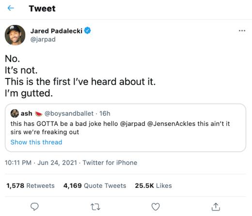Padalecki tweet