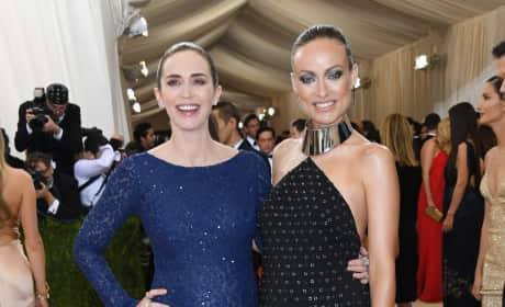 Emily Blunt and Olivia Wilde: 2016 Costume Institute Gala
