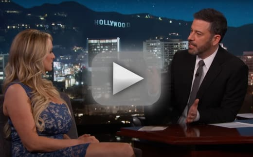 Stormy daniels discusses her trump affair with jimmy kimmel