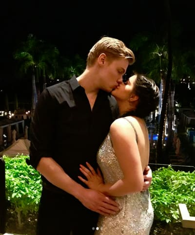 Levi Meaden Kisses Ariel Winter
