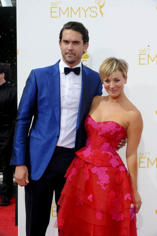 Kaley Cuoco and Ryan Sweeting at the Emmys