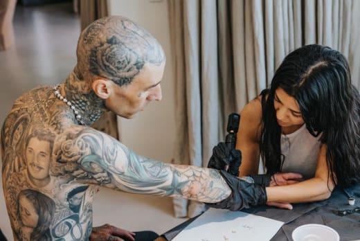 Kourtney Tattoos Travis
