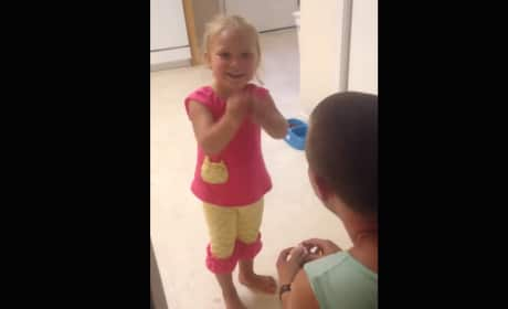 Man Proposes to Daughter… for the Cutest of Reasons