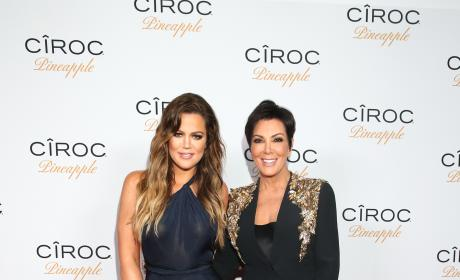 Khloe Kardashians and Kris Jenner: French Montana's Birthday Party