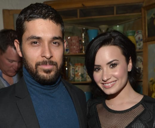 Wilmer Valderrama and Demi Lovato in Happier Times