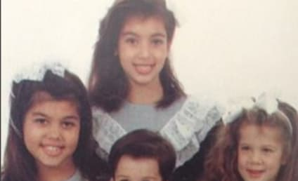 Kris Jenner Shares ADORABLE Throwback Pic of Kim, Kourtney, Khloe & Rob