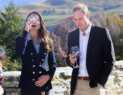 Kate Middleton Drinking Wine