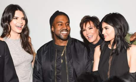 Kylie, Kendall, Kanye and Kris