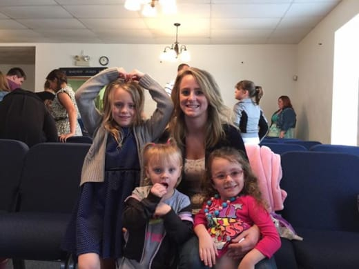 Leah Messer Church Selfie