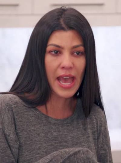 Kourtney Kardashian Cries a Bit