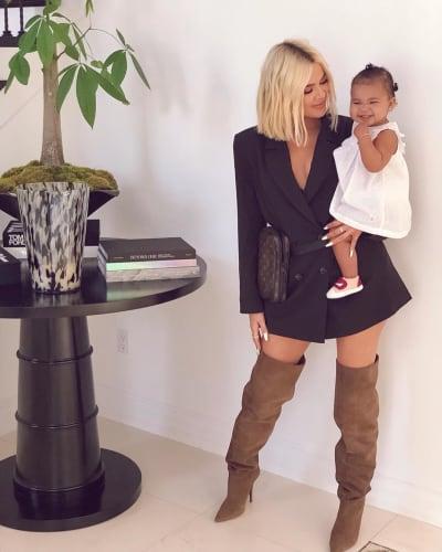 Khloe Kardashian Holds 11-Month-Old True Thompson