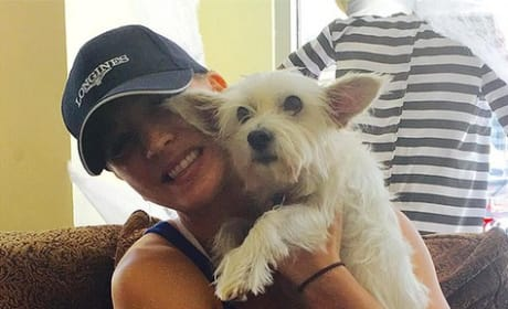 Kaley Cuoco and Chester