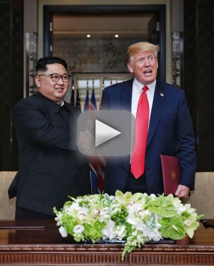 Donald trump shocks reporters with unprecedented propaganda vide