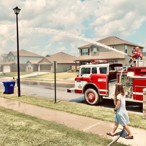Samuel Dillard birthday firetruck