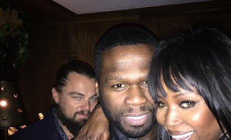 Leonardo DiCaprio, 50 Cent Photobomb