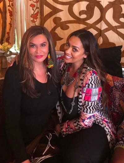 Tina Knowles and LaLa Anthony