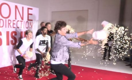 One Direction Throws Popcorn on Press