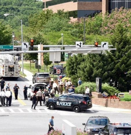 Capital Gazette scene