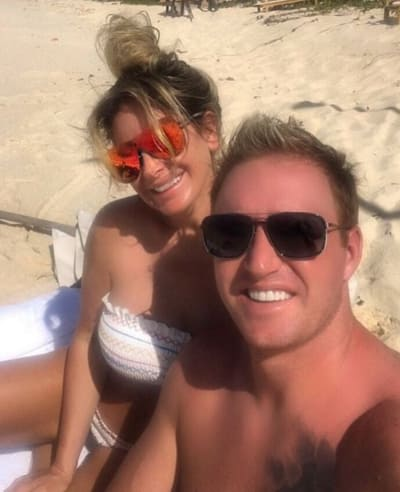 Kroy Biermann and Kim Zolciak on the Beach