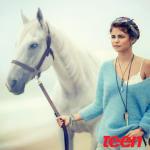 Selena Gomez and a Horse