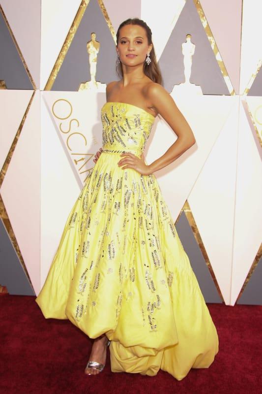 Alicia Vikander at the Academy Awards
