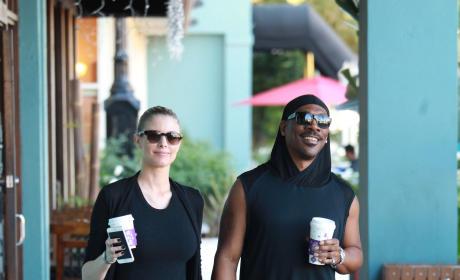 Eddie Murphy and Paige Butcher Grab Coffee in Studio City