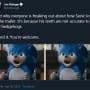Sonic teeth tweet